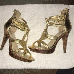 Bebe Gold Heel